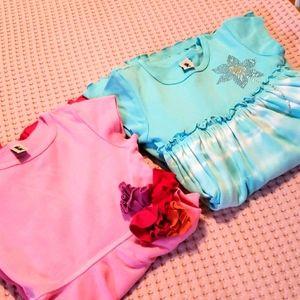 Two girls dresses.